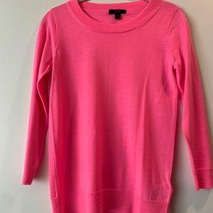 J Crew NEW XS hot pink Tippi merino wool sweater